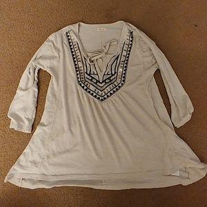 Hollister womens size S 3/4 sleeve shirt